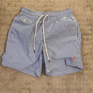 Polo Ralph Lauren Seersucker Swim Trunks